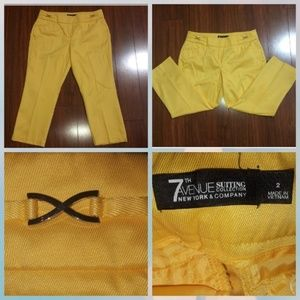 New York & Co 7th avenue yellow pants